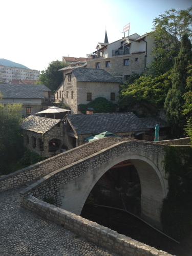 Older bridge in Mostar for our wedding
